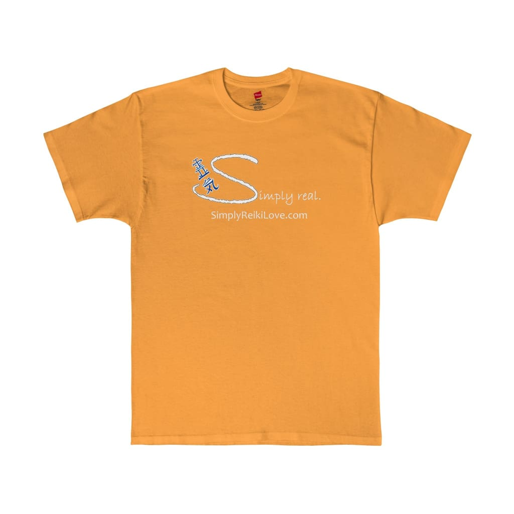 Simply Real. Comfy Tagless T-Shirt - Gold / S - T-Shirt