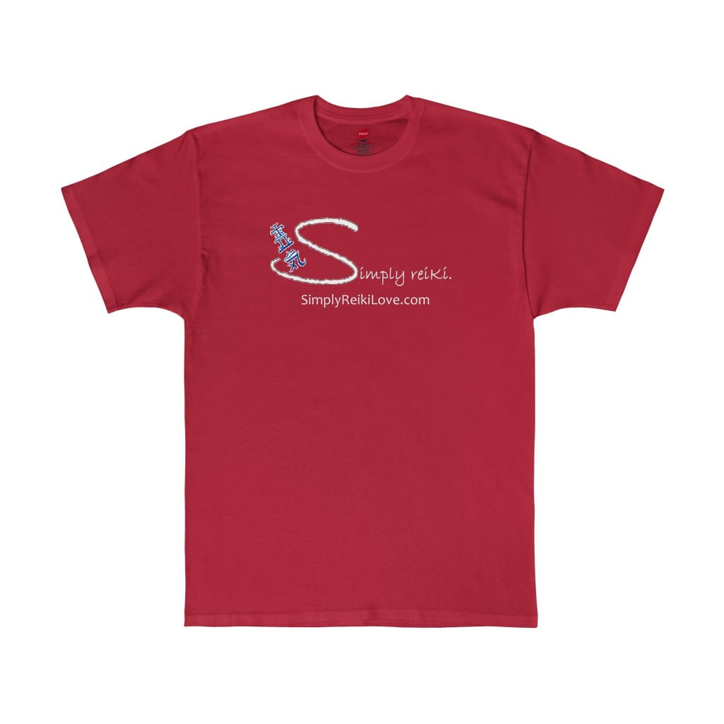 Simply Reiki. Comfy Tagless T-Shirt - Deep Red / S - T-Shirt