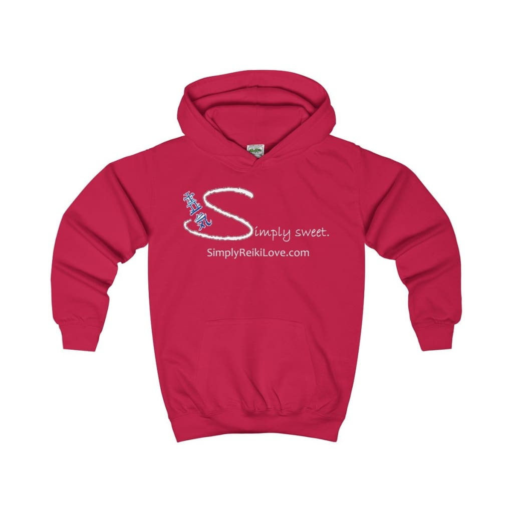 Simply Sweet. Kids Comfy Hoodie - Fire Red / Xs - Kids Clothes