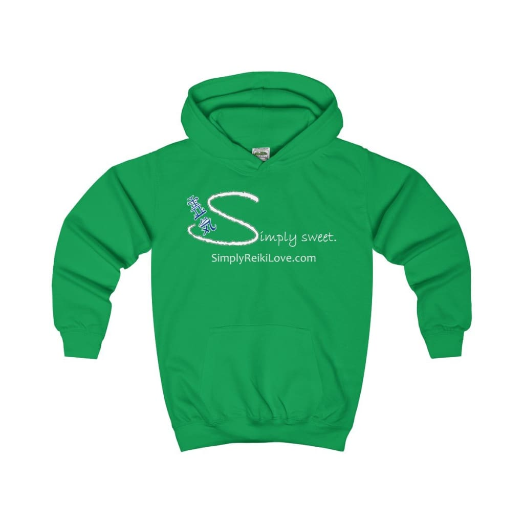 Simply Sweet. Kids Comfy Hoodie - Kelly Green / Xs - Kids Clothes