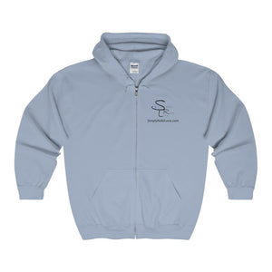 Srl Comfy Zip-Up - Light Blue / S - Hoodie