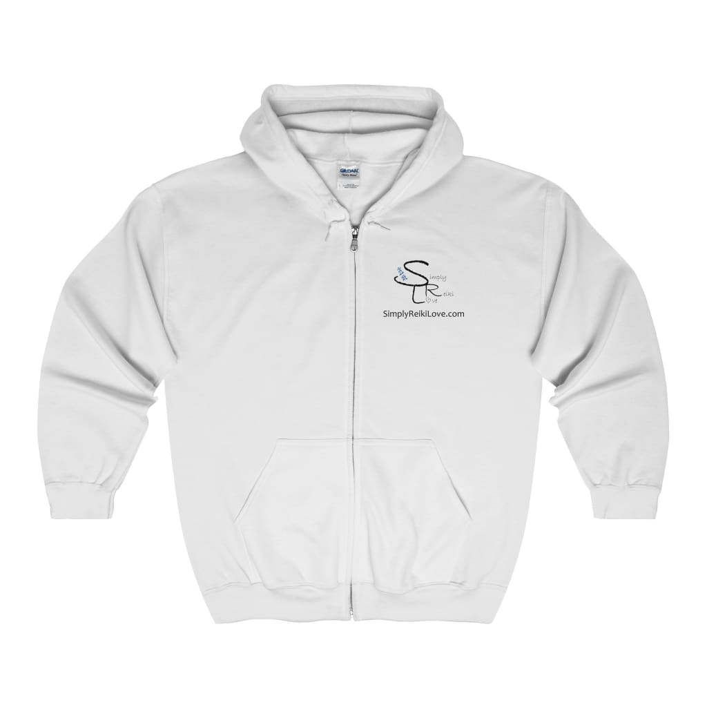 Srl Comfy Zip-Up - White / S - Hoodie