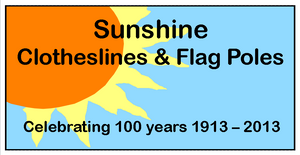 Sunshine Clothesline and Flag Poles