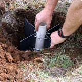 Placing Ground Socket in hole