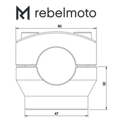 Rebelmoto Risers 22mm | Height 32mm - Krank Motostudio