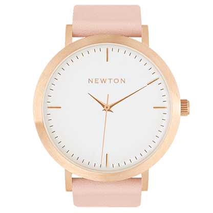 Premium Minimal, classic Unisex watches and jewellery Simple Handcrafted Watches, The Rose Gold & Peach comes with neutral tones. With a brushed rose gold casing, and a peach Italian leather band.