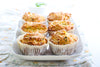 Whole Wheat EVOO, Zucchini & Cranberry Muffins