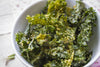Spicy Baked Olive Oil Kale Chips