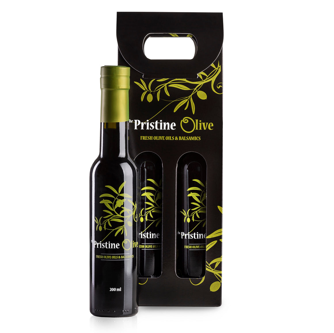 2 x 200ml Bottle Tote - A La Carte (olive oil / dark balsamic)