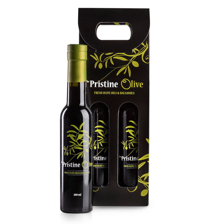 2 x 200ml Bottle Tote - A La Carte (olive oil / white balsamic)
