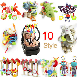 2018 New Infant Musical Soft Plush Rabbit Bear Dog Robot Baby Rattle Hanging Bed Stroller Star Teether Rattle Mobile Baby Toys