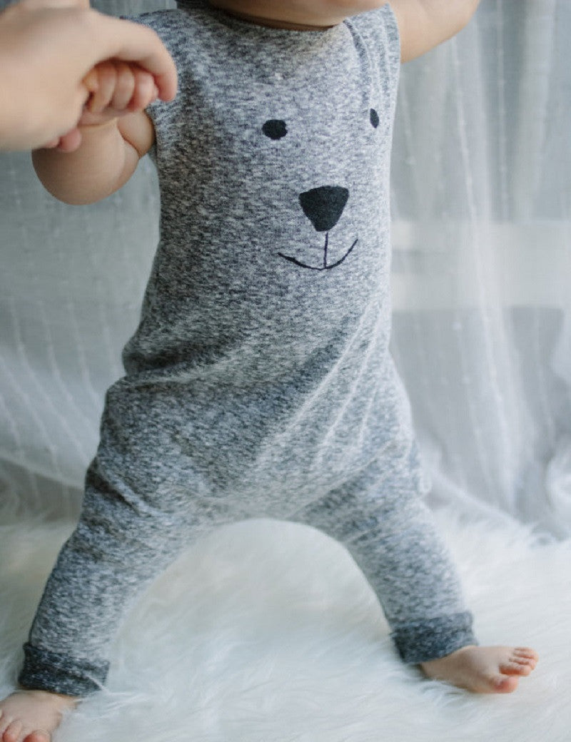 Newborn Winter Rompers 2018 Cute Toddler Baby Girl Boy Bear Jumpers Rompers Playsuit Outfits Clothes 0-24M