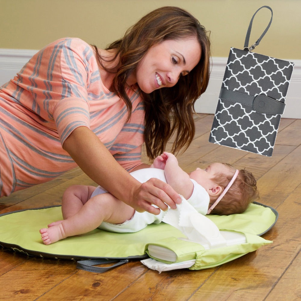 Waterproof Portable Baby Diaper Changing Mat / Changing Pad Travel Changing Station