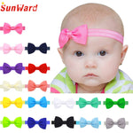 2018 Multicolor Bowknot Mini Headbands girl hair accessories Girl headband cute hair band newborn floral headband LS25