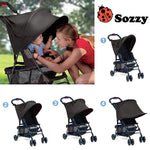 Baby Stroller Rag Shade Blocks 99% UV UVB Sun Rays Cover kids Car Awning polyester Rain Tent Multifunctional pram Accessory