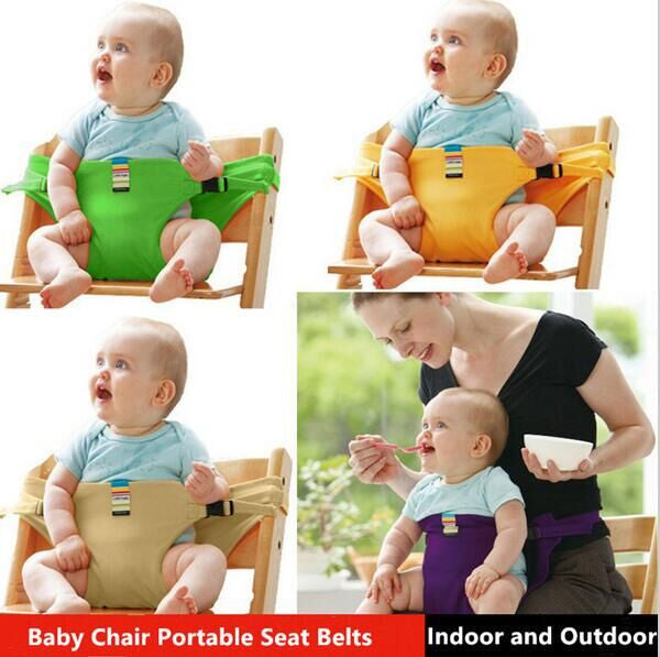 Baby Chair Portable Infant Seat Product Dining Lunch Chair/Seat Safety Belt Feeding High Chair Harness baby feeding chair #62