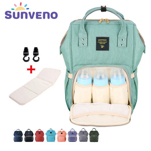 Sunveno Fashion Mummy Maternity Nappy Bag Brand Large Capacity Baby Bag Travel Backpack Designer Nursing Bag for Baby Care