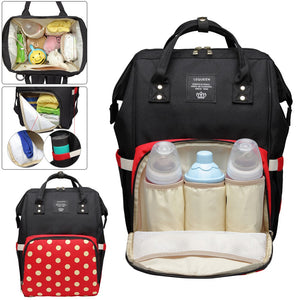 Fashion Mummy Diaper Bag Large Capacity Waterproof Travel Shopping Bag Baby Nappy Changing Care Stroller Organizer Backpack