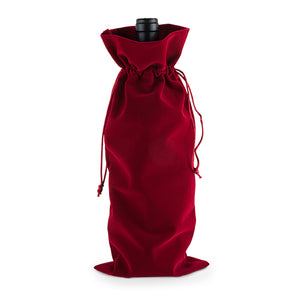 Red Velvet Bottle Sack