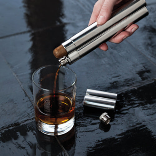 Steel Cigar Holder and Flask - Spoiled Store