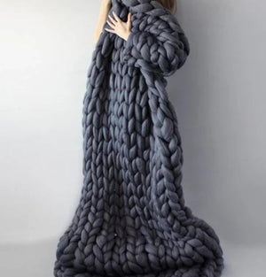 Chunky Knitted Blankets - Spoiled Store