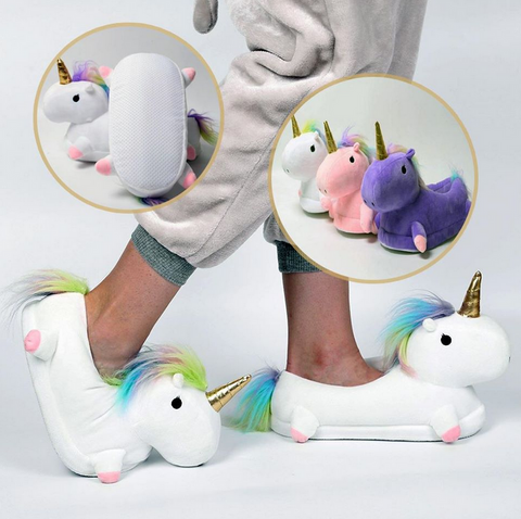 Unicorn Slippers - Spoiled Store