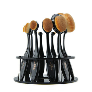 Oval Makeup Brushes Set - Spoiled Store