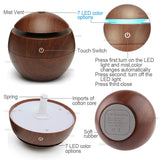 USB Aroma Essential Oil Diffuser Ultrasonic Cool Mist Humidifier Air Purifier 7 Color Change LED Night light for Office Home - Spoiled Store