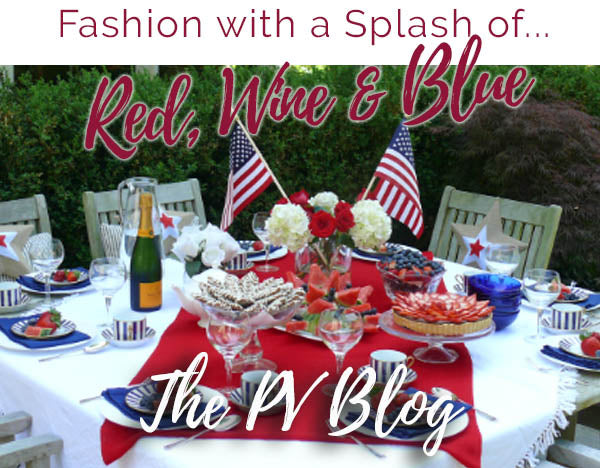 Fashion with a Splash of Red, Wine, & Blue