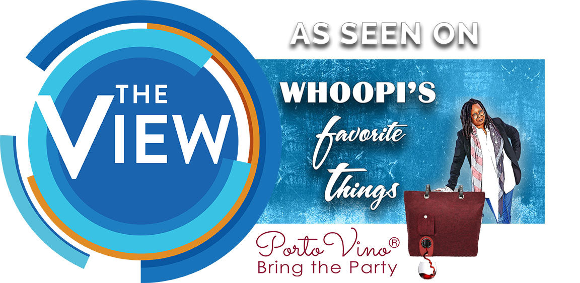 Whoopis Favorite Things 2018 - PortoVino Wine Purse