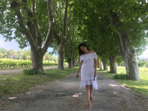Vanessa in Rhone Valley in the town of Avignon
