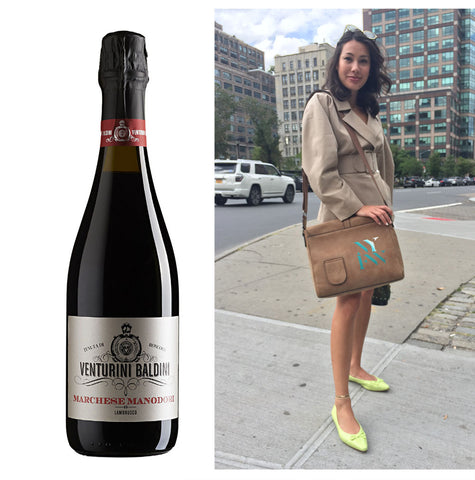 Lambrusco and PortoVino Camel Messenger bag
