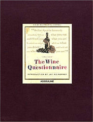 Wine Questionnaire Classics by Jay McInerney