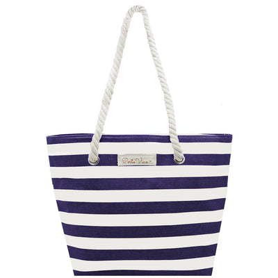 Beach Tote Wine Purse - holds 2 bottles of wine in a party pouch and your stuff!