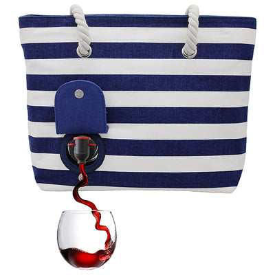Stylish bag with spout that holds wine or beverage of choice