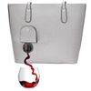 Elegant purse with spout that holds wine or beverage of choice