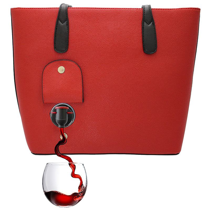 Red Wine Bag Bundle - Purse, cups, scarf and extra party pouches
