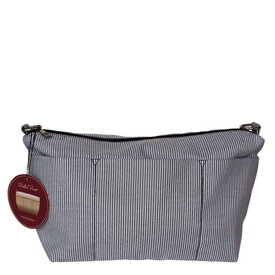 Navy Stripe PortoVino Purse Organizer