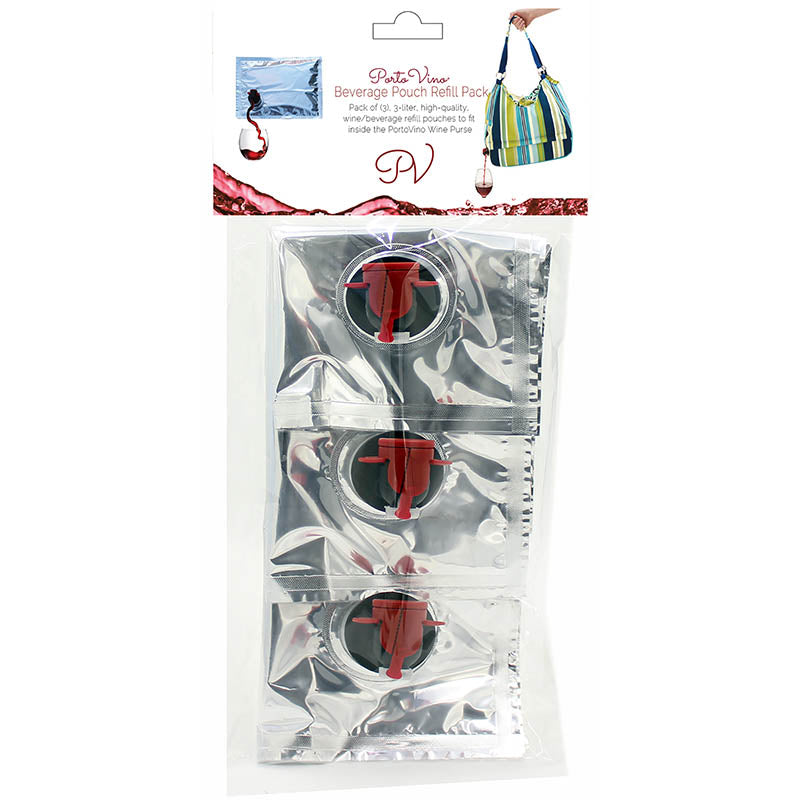 PortoVino Refill Party Pouch Pack - 3L Capacity each (3 Units)