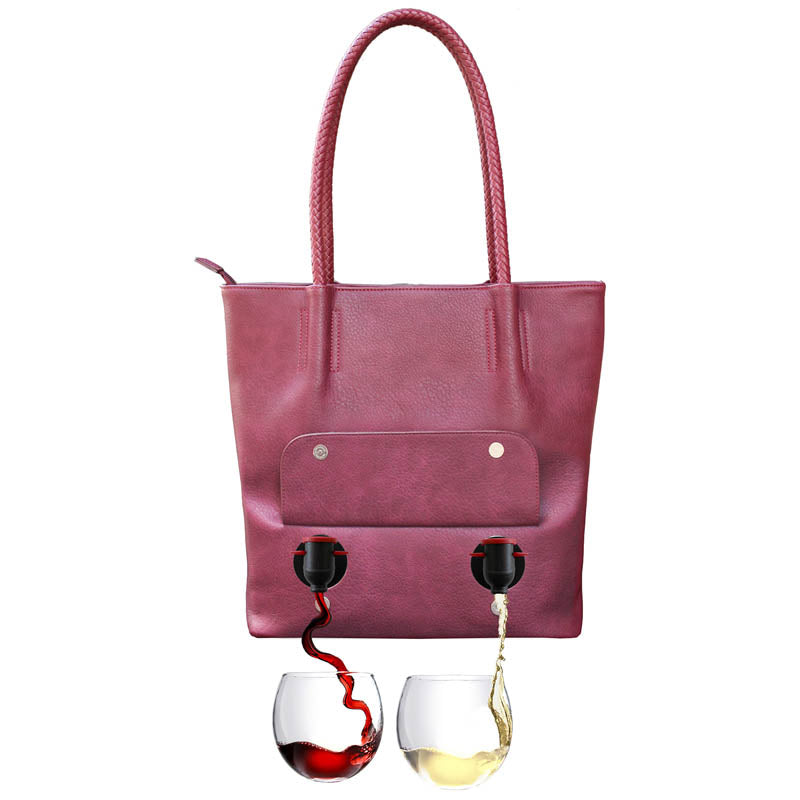 PortoVino Double Pour Tuscany Vegan Leather Tote