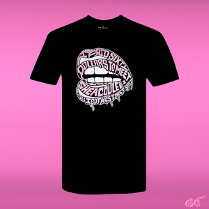 Shea Coulee pink lips shirt