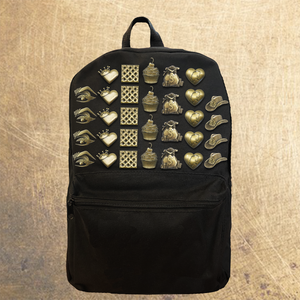 Brass Pin Collection: Backpack w/ Complete Set (7 pins)
