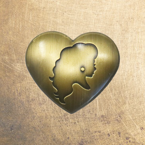 Brass Pin Collection: Cracker's Heart Silhouette