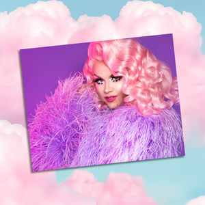 "Farrah ""Purple Feather"" Print"