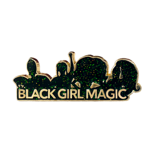 Black Girl Magic Logo Pin