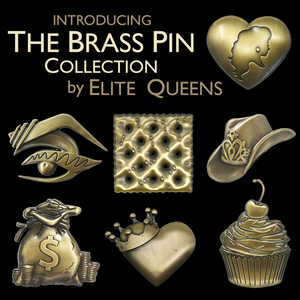 Miz Cracker brass pin merch