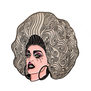Dusty Ray Bottoms Merch, enamel pin RPDR