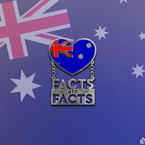 Monique Heart Facts are Facts Australia Pins
