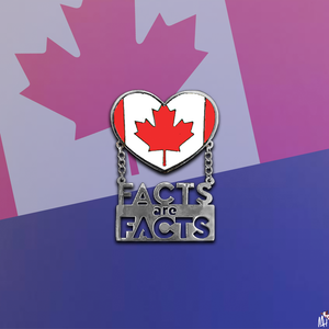 "The ""Facts are Facts: Worldwide"" pins by Monique Heart (Set of 5)"