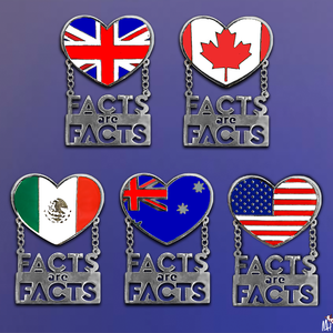 Monique Heart Facts are Facts Country Pins